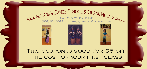 dance coupon $5 off first class
